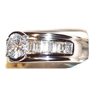 Jewelry - 3.5 cts. round & baguette diamonds ring wedding